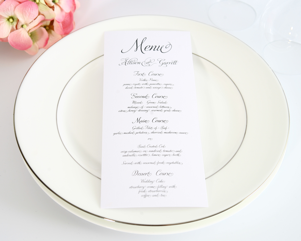 Create your own wedding reception menu with tasty food and drink ideas, recipes, and decorations for a memorable party.